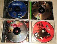 Original Playstation 1 PS1 4 Game lot Shadow Man Machine Head Die Hard Trilogy +