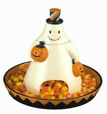 Grasslands Road Halloween Large Ghost Candy Dish 468424 Monster Mash NEW