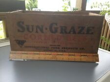 Sun-Graze Corned Beef Wood Box, Vintage Shipping Crate , Advertising