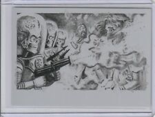 2017 Mars Attacks The Revenge 1/1 Black Printing Plate Fire Flower Power No. 27