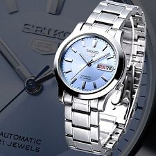 Seiko 5 Automatic Mens Watch 21 jewel Skeleton Back Blue dial SNK791K1 UK Seller