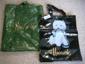 BNWT Harrods West Highland Terrier PVC Shopping Bag