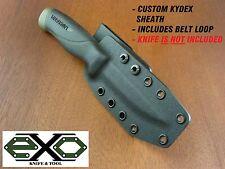 Kydex Sheath, Mora Companion Heavy Duty, #11746, 3.2mm Carbon Blade, BLACK--