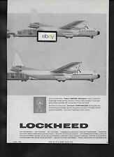 LOCKHEED AIRCRAFT HERCULES AIRFREIGHTERS 2 SIZES 6 OR 19 PALLETS 1959 AD
