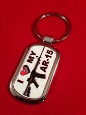 I LOVE MY AR-15 GRAPHIC KEYCHAIN - FIREARMS KEYCHAIN, GUN KEYCHAIN