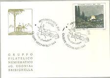 CARTOLINA  NUMERATA 1981 PRIMO GIORNO GRUPPO  BRISIGHELLA  GIUSEPPE UGONIA FDC