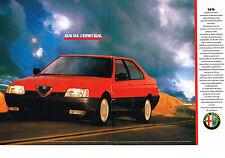PUBLICITE ADVERTISING  1989   ALFA ROMEO   ALFA 164 3.0V6 ( 2 pages)