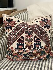 """Pottery Barn Milton Embroidered Pillow Cover Global 18"""" Square New"""
