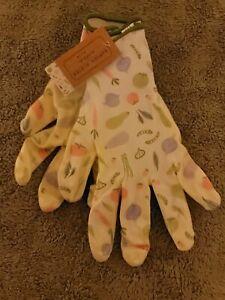 Medium Garden Gardener Gardening Gloves Yard Nitrile Knit Wrist Vegetable