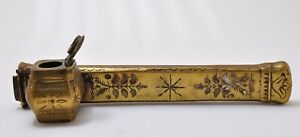 Vintage Asian Brass Yatate Antique Calligraphy Japan