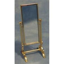 1/12th Scale Dolls House Miniature Brass Full Length Swivel Cheval Mirror