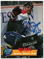 95/96 Edge Ice #187 Robin Bawa Signed Autograph RARE [San Francisco Spiders]