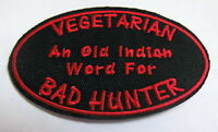 BAD HUNTER Aufnäher Patch Sprüche Biker Indianer