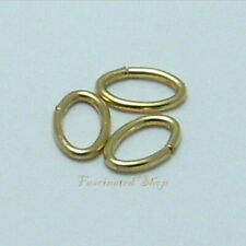 14K Gold Filled 4.9x7.6mm 19.5 gauge Oval Open Jump Ring Findings 12pcs.