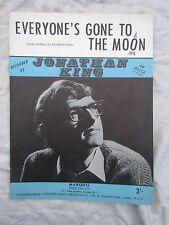 VINTAGE SPARTITO Jonathan King tutti sono andati sulla Luna