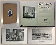 Bierbaum Schüddekopf Goethe-Kalender 1917 Lyrik Militärgeschichte Deutschland xz