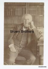 Vintage 1905 American Inventor Thomas Edison Seated at Desk Photo - Brown Bros