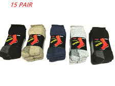15 pairs x Size 6-11 Heavy Duty Work Ski Wool Socks Extreme Double Layer----