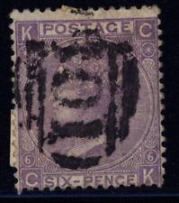 Great Britain 45 p.6 (SG Z61) used w/black B01 pmk (Suez, Egypt) - 6 d Victoria