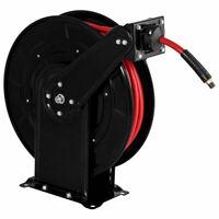"3/8"" x 65' Auto Rewind Retractable Air Hose Reel 300 PSI Rubber Hose Heavy Duty"