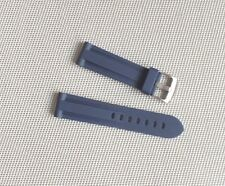22mm Zuludiver Silicone Rubber Italian Diver Watch Strap Navy Blue