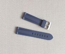 22mm Zuludiver Silicona Goma Reloj Correa De Buzo Italiano // Azul Marino