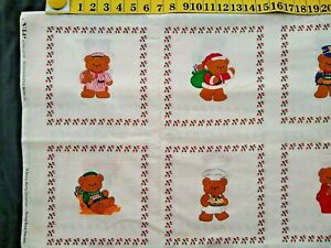 A Beary Merry Christmas Picture Book Patches 45 X 18 Inches Fabric sewing