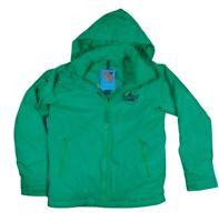 BURTON DRYRIDE Green Hooded Winter Ski Snowboard Jacket women's / boys M #799