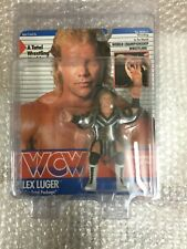 WCW GALOOB MOC ERROR CARD PRE RING LEX LUGER UK EXCLUSIVE Wrestling Figure