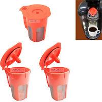 (3) Reusable K-Carafe K-Cup Coffee Filter Pod For Keurig 2.0 K200 K400 K450 K550