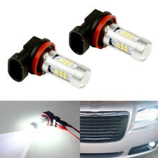 Total 2000LM 6000K White High Power H8 H11 H16 LED Driving Fog Light Bulbs