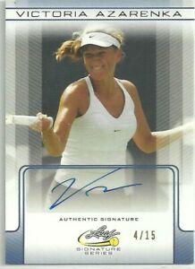Victoria Azarenka - Leaf Signature Series 2017 - Authentic Signature Trade Card