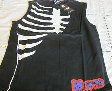 DRAGONFLY MISFITS 2004 Flesh Eater SKMF74 TEE Black Sleeveless NWT LARGE SHIRT