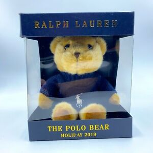 Ralph Lauren The Polo Bear Holiday 2019 Limited Edition w/ Polo Sweater **Read**