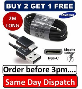 2M  Samsung S8 S9 S10 TYPE C Cable USB-C Charger Data Sync Lead extra long