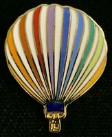 Rare Vintage 1980s Rainbow Colored Hot Air Balloon Advertising Pin! WPIN047