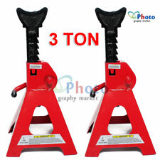 2PC 3 Ton Car Truck Heavy Duty Steel Jack Stand Ratchet Adjustable Lift Hoist AU