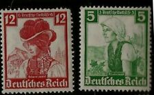 1935 Nazi Germany Aryan Women In Costumes of Black Forest & Rhainland Mint Stam