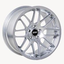 19x9.5 VMR VB3 5x120 ET45 Super Silver Wheels (Set of 4)
