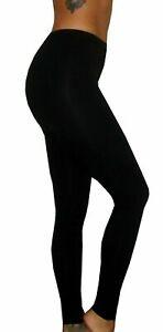 WOMENS PLUS SIZE LEGGINGS PANTS VISCOSE ELASTANE STRETCH BLACK 8-22
