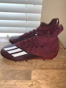 Adidas Adizero Primeknit SK Maroon White Football Cleats EH3423 Men's Size 9