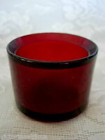 Beautiful Ruby Red Blown Glass Tealight / Votive - MORE AVAILABLE