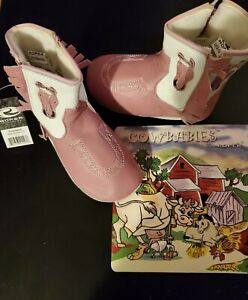 Roper Cowbabies Infant Soft Leather Fringed Cowboy Boots Large 12-18 Months NWT