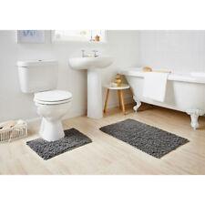 G329252-Supersoft Absorbent Chenille Noodle Bath Mat & Pedestal Set 2pc-