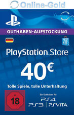 PSN Network Card 40 Euro PS3 PS4 PS Vita PlayStation Gift Prepaid Code 40€ - DE