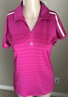 adidas Climacool Size Small Pink Short Sleeve Polo Golf Shirt Womens NWT New A