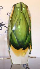 Murano Greenish Gold Glass Vase