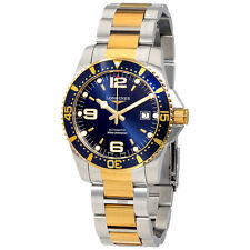 longines blue dial automatic mens two tone watch l37423967