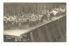NY Webster Crossing RPPC Real Photo Methodist Church Flower Carnival 08 Postcard