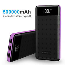 500000mAh 3 USB External Power Bank Portable LCD LED Charger for Cell Phone US
